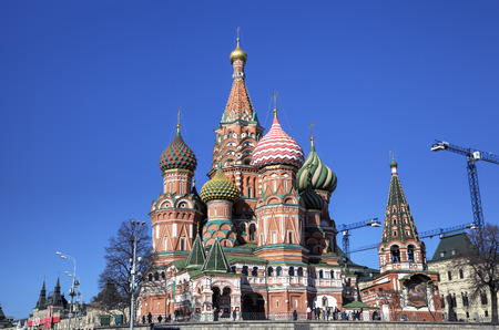 Cathedral of the Protection of Most Holy Theotokos on the Moat  Saint Basil s Cathedral   Red square, Moscow, Russia photo