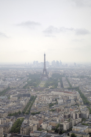 Foggy Paris  View from Monparnas Tower  France photo