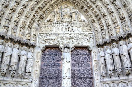 The Notre dame de Paris church  Decoration elements  Paris, France photo
