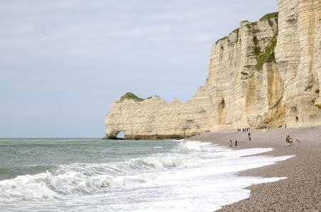 White cliffs of Etretat  France photo
