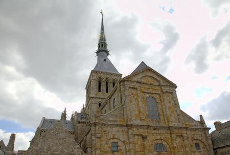 mont saint michel: Abbey of Mont Saint Michel, Normandy, France  Stock Photo