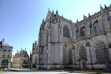 フランス カンペール大聖堂 写真素材
