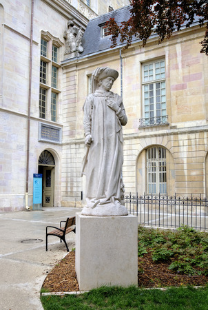 Statue of Philip the Good  Philippe le Bon  in the Palace of Dukes and Estates of Burgundy  Dijon, France