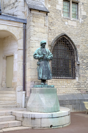 Statue of sculptor Claus Sluter in the Palace of Dukes and Estates of Burgundy  Dijon, France
