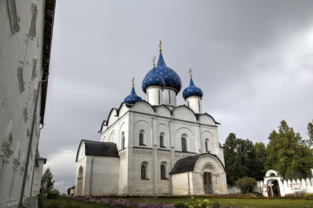 View of Suzdal Kremlin: Cathedral of the Nativity of the Virgin. Suzdal, Golden Ring of Russia.