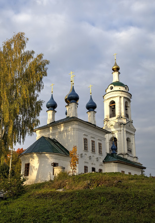 provincial tourist area: Saint Varvaras church. Ples, Golden Ring of Russia