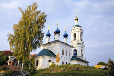 provincial tourist area: Saint Varvaras church. Ples, Golden Ring of Russia