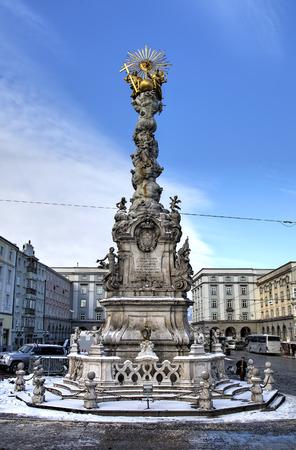 plague: Plague Column. Linz, Austria