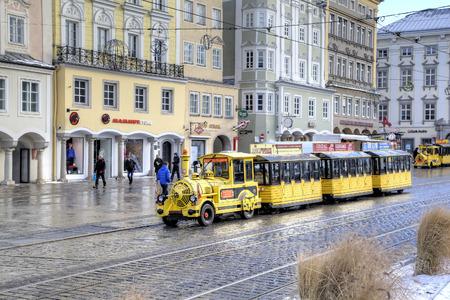 electronica: Turistic train. Linz, Austria