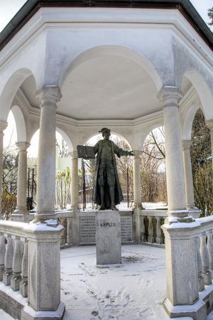 johannes: Statue of Johannes Kepler. Linz, Austria