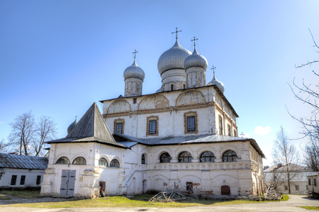 apses: Znamensky Cathedral. Veliky Novgorod Russia Stock Photo