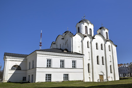 veliky: St. Nicolas Cathedral. Veliky Novgorod Russia Stock Photo