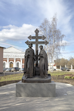 veliky: Monument to Peter and Fevronia. Veliky Novgorod, Russia