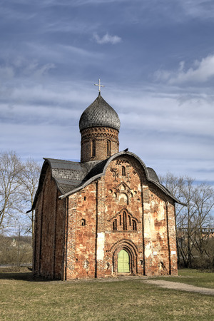 veliky: St. Peter and Paul Church in Kozhevniki. Veliky Novgorod, Russia