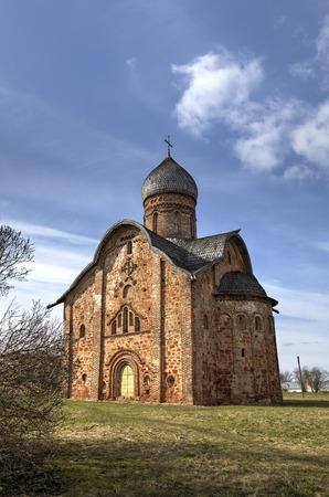 novgorod: St. Peter and Paul Church in Kozhevniki. Veliky Novgorod, Russia
