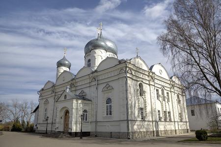 novgorod: Zverin-Pokrovsky Monastery. Veliky Novgorod, Russia