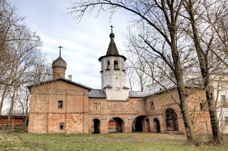 archangel: Church of the Archangel Michael and Church of the Annunciation. Veliky Novgorod, Russia