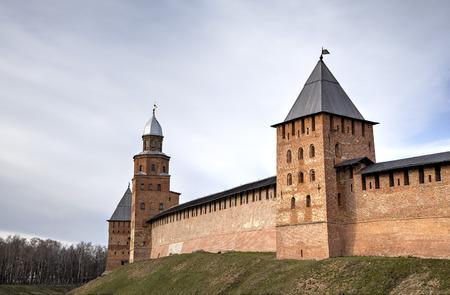 spasskaya: Spasskaya Tower of Kremlin. Veliky Novgorod, Russia Editorial