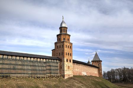 novgorod: Tower Kokui of Novgorod Kremlin. Veliky Novgorod, Russia