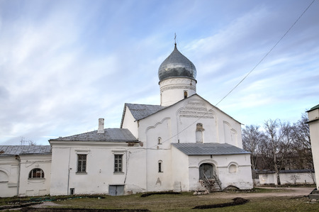 veliky: The Church of the great Martyr Demetrios Solunskiy. Veliky Novgorod, Russia Editorial