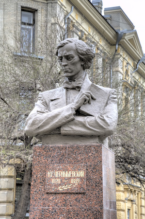 utopian: Monument to NG Chernyshevsky at the territory of the Saratov State Medical University.