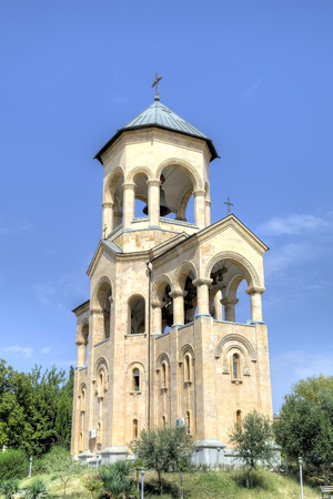 tbilisi: Holy Trinity Cathedral Tsminda Sameba. Tbilisi, Georgia Stock Photo