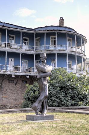 Statue of Georgian architect Shota Kavlashvili. Tbilisi, Georgia Editorial
