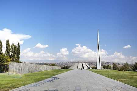 residential settlement: Monument to the victims of genocide of Armenians in the city of Yerevan, Armenia Editorial
