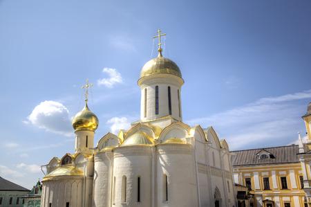 sacred trinity: Cathedral of the Trinity. Holy Trinity St. Sergius Lavra. Sergiev Posad, Russia.