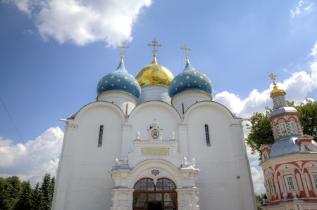 blessed trinity: Cathedral of the Assumption of the Blessed Virgin Mary. Holy Trinity St. Sergius Lavra. Sergiev Posad, Russia.