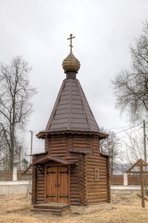 Chapel of Saint Nicholas Church. Zvenigorod, Russia. Stock Photo