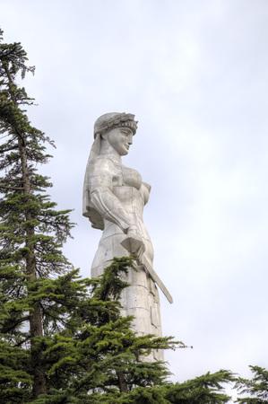 トビリシ、グルジアの母ジョージア (Kartlis Deda) の像 写真素材