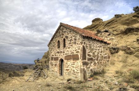 monastic: Church of the Annunciation. Monastery Udabno. Sagarejo municipality, the Gareji ridge. Kakheti. Georgia. Stock Photo