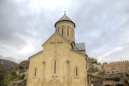 聖ニコラス教会。ナリカラ要塞。トビリシ。グルジア。