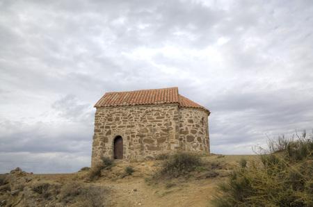 復活の教会です。修道院の Udabno。カヘティ州。グルジア。 写真素材