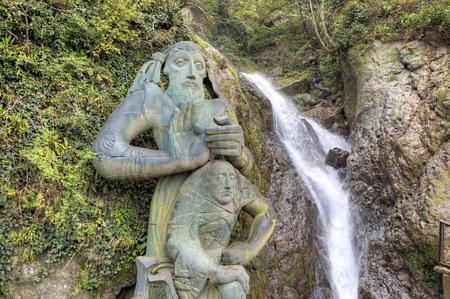 The waterfall of Saint Andrew the First-Called. Sarpi. Adjara. Georgia. Editorial