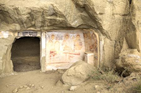 壁画の 13 世紀、デビッド Gareja 修道院、カヘティ州、ジョージア