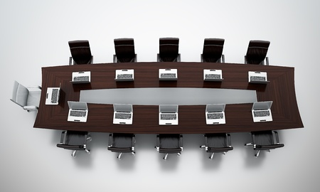 board room: 3d render of empty conference room