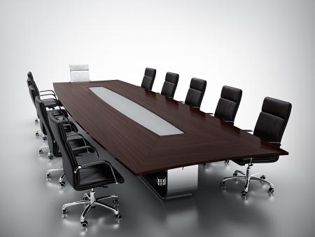 3d render pustej sali konferencyjnej
