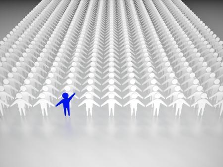 foule mains: Une personne se d�marquer de la foule