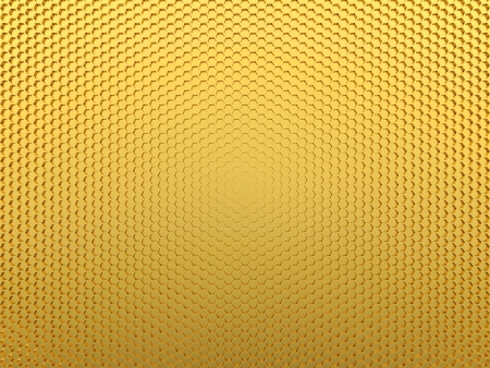 wire mesh: Abstract background of honeycomb made of gold Stock Photo