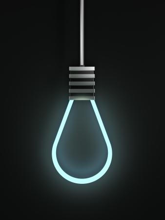 ahorcado: Concepto de foco de luz en forma de soga aislados en negro