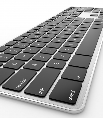 3D render of keyboard isolated on white background Stock Photo - 14951864