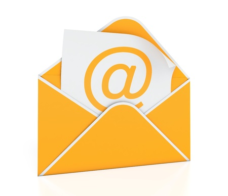 3D illustration of e-mail envelope on white background illustration