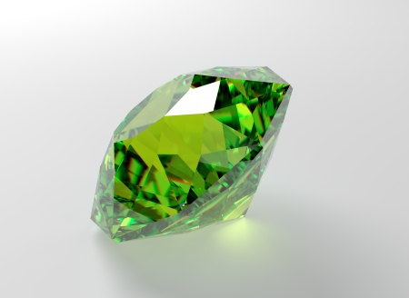 3D illustration of emerald isolated on white background Stock Photo