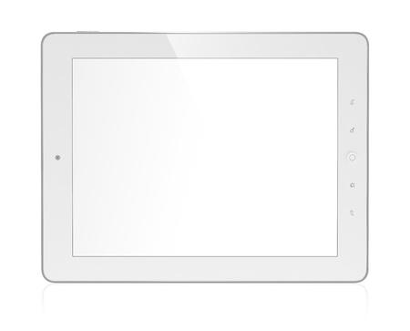 3D illustration of modern tablet computer isolated on white background Stock Illustration - 15285174