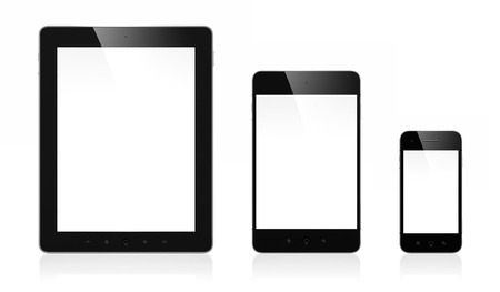 3d illustration of modern mobile devices isolated on white background Stock Illustration - 15285181