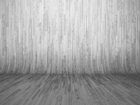 bent: 3D illustration of bent parquet background