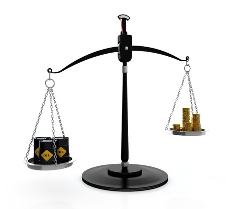 high price of oil: 3D illustration of high price on oil concept