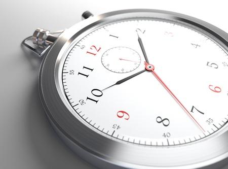 cronógrafo: Imagen generada por ordenador de reloj de metal de cerca
